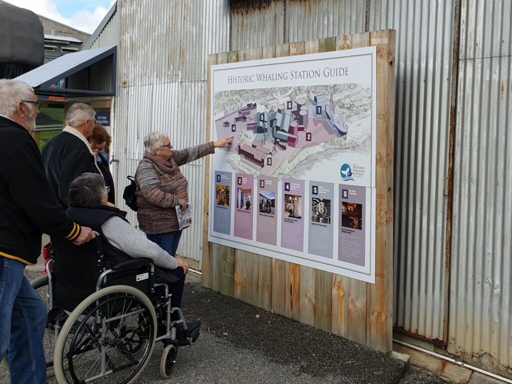 Visitors looking at site map